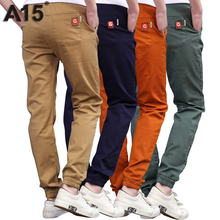 A15 Boys Pants 2017 Spring High Quality Teenage Boy Clothing Kids Pants Boy Trousers Children Cotton Pants Size 11 13 15 16 Year(China)