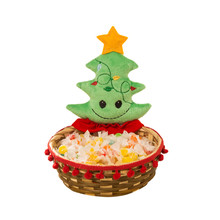 Christmas Candy Storage Basket Santa Claus Storage Basket Decoration Gift kids holiday gift New Year 2018 decoration 18x17CM