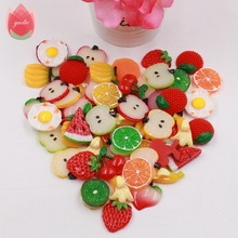 Wholesale 50pcs Plastic 3cm Artificial Fruit Slices For Wedding Party Home Dining Table Decoration Marriage Kids Learning Toys