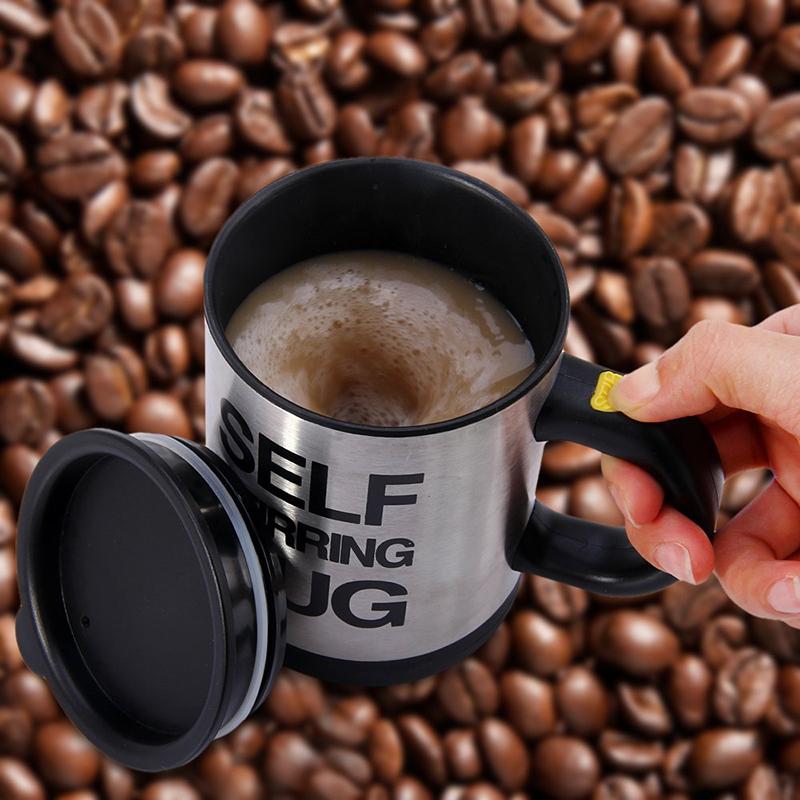 6 Colors 400ML Self Stirring Mug Automatic Electric Blenders Stainless Steel Coffee Makers Milk Tea Milk Mixing Drinking Cups  (6)