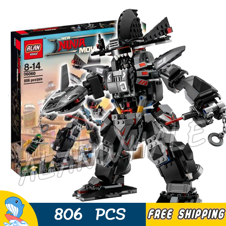 806pcs Ninja Garma Mecha Man Samurai Mech Robots 10719 Model Building Blocks Children Assemble Toys Bricks Compatible With lego<br>