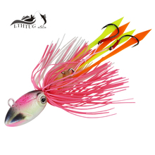 Hot 2017 New Leurre Peche Fishing Jig 70g Ocean Fisihing Lure Squid Jigs Head Hard Steel Heavy Jig Wobbler Pesca Artificial Bait(China)