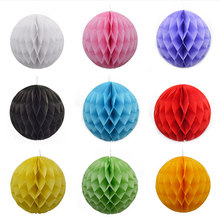 Decorative Tissue Paper Lantern Honeycomb Balls Flower Pastel Holiday Wedding Birthday Party Decorations Supplies(China)
