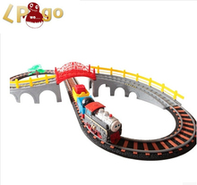 2016 Brinquedos Meninos To train track Railway three Container thomas Train Track Electric Educational Toy scale Classic Train