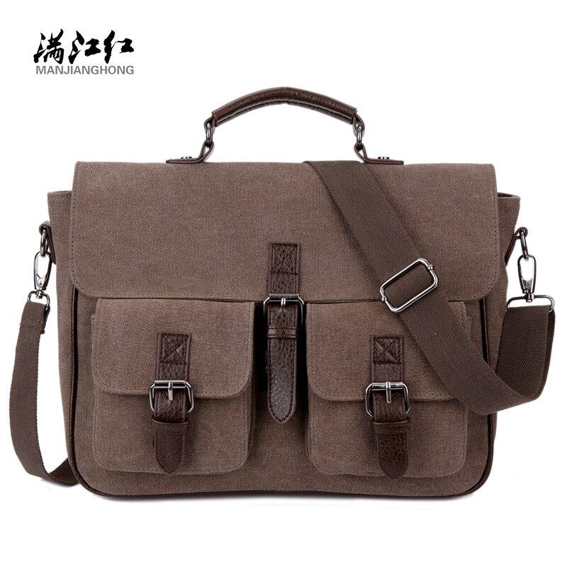 Office Man Briefcase Bag Handsome Business Men Bag Documents Canvas Shoulder Bag Back pack Rucksack 1282<br>