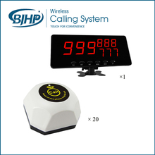 Hot Selling One Display Monitor with 20 Call Buttons Restaurant Wireless Waiter Call System(China)