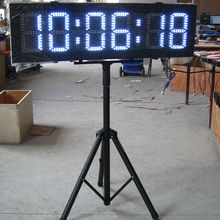 8'' Character High Red Color LED Countdown Clock For Horse Racing Timing Sport Timer LED Race Timing Clock With Tripod
