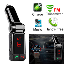 Car MP3 Audio Player Bluetooth FM Transmitter Wireless Modulator Car Kit Hands Free USB Charger for IPhone Samsung Smartphone