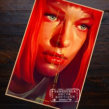 Leeloo The Fifth Element Sci-Fi Poster Classic Retro Vintage Kraft Decorative DIY Wall Sticker Home Bar Posters Decoration Gift