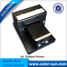 Big promotion Non coating A3 size Flatbed Printer for PVC,PU,TPU,ABS material printing directly
