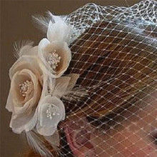 New Vintage Flower Wedding Bridal Birdcage Face Cover Veil with Comb Crown Tiaras Bridal Hair Accessories Jewelry(China)