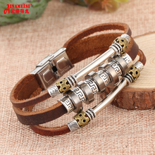 Buy Punk Design weave leather bracelet Wristband Female Bracelets Ethnic Vintage Jewelry Women Men Bijouterie for $2.49 in AliExpress store