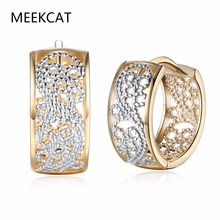 MEEKCAT Fashion Jewellery Huggie Earing for Women White Cubic Zirconia Hoop Earings Design Wedding Earring Brinco Bijoux
