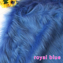 "Royal blue  Solid Shaggy Faux Fur Fabric (long Pile fur)  Costumes  Cosplay backdrops 36""x60"" Sold By The Yard  Free Shipping"