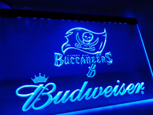 LD288- Tampa Bay Buccaneers Budweiser LED Neon Light Sign(China)
