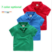 Children wear fashion boys Baby Polo shirts han edition summer Kids Girls wear solid color Polo Child Clothing Shorts Polo shirt(China)
