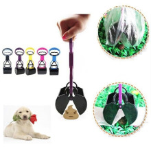 Dog Cat Pet Pooper Scooper Jaw Poop Scoop Brooms Clean Pick Up Waste Long Handle Tools(China)