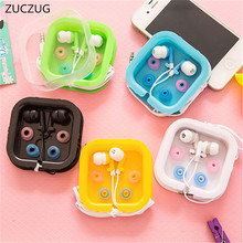 ZUCZUG NEW Candy 5 Color 3.5mm In-Ear Earphone Earbuds Headset Earphones With Mic For MP3 MP4 SAMSUNG HTC Sony xiaomi(China)