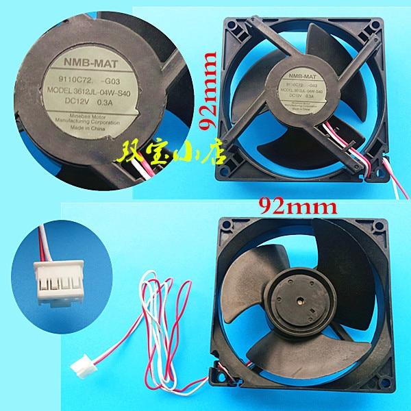 Original NMB-MAT 3612JL-04W-S40 DC12V 0.3A for refrigerator cooling fan<br>