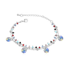 Bohemian Charm Bracelets Made with Swarovski ELements Crystals from Swarovski Multi Layer Hand Chain Women Jewelry