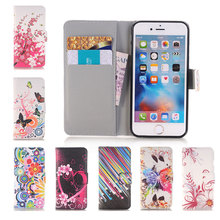Lovely Soft Shell Cover Flip Leather Wallet Credit Card Case For apple iphone 4 4s 5 5s SE 5SE 5C 6 6s 7 Plus 7plus
