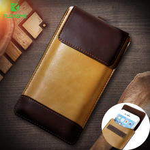 FLOVEME Mobile Phone Bags Case For iPhone 6 6s Plus 7 Plus Cover PU Leather Men Purse Wallet Pouch For iPhone 5 5S SE Universal(China)