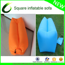 2017 Hot New OEM inflatable banana bag For camping air Sofa outdoor inflatable laybag air sofa sleeping bag