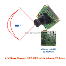 Inventory Clean - up Economy Lower Illumination Surveillance System Sony CCD 800TVL Board with 3.6mm HD lens for CCTV Camera