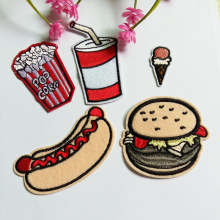 5pcs  fashion Hamburg series Patches Iron On Or Sew Fabric Sticker For Clothes Patch Badge Embroidered For Clothes