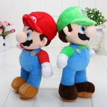2016 new Super Mario Luigi Plush Toy Doll 25cm 10inch High Quality baby toy super mario plush toys(China)