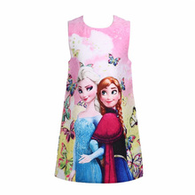 Girls Clothes Summer Elsa Dress Sleeveless Kids Princess Dress Pajamas Baby Girl Cartoon Costumes Sundress Baby Girls Clothing