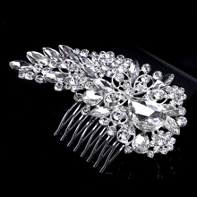 New Clear Hair Jewelry Bridal Flower Austrian Crystal Hair Comb Wedding Hair Accessories For Bridesmaid & Bride