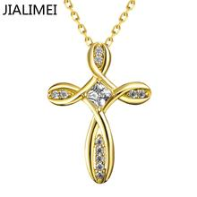 Hot Sell Gold Color Necklaces Pendants with High Quality Cubic Zircon For Women Birthday Gift N065-A(China)