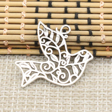 Buy 10pcs Charms hollow peace dove 36*32mm Tibetan Silver Plated Pendants Antique Jewelry Making DIY Handmade Craft for $2.25 in AliExpress store