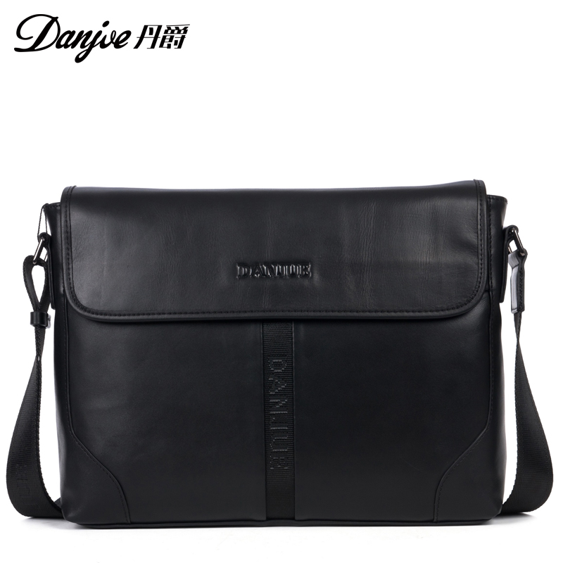 High Quality Famous Brand Genuine Cow Leather Man Business Shoulder Bags Soft Solid Mens Messenger Bags<br><br>Aliexpress