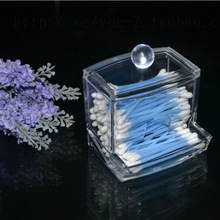 Cotton swab box crystal cosmetic transparent acrylic Home storage(China)