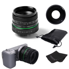 New green circle 35mm APS-C CCTV camera lens For Sony NEX Camera NEX-6,NEX-5R,NEX-F3,with C-NEX adapter ring +bag + gift(China)
