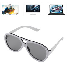 Universal Polarized 3D Glasses Passive Google Cardboard VR Virtual Reality 3D Game Movie TV Cinema Theatre Plastic Frame Glasses(China)