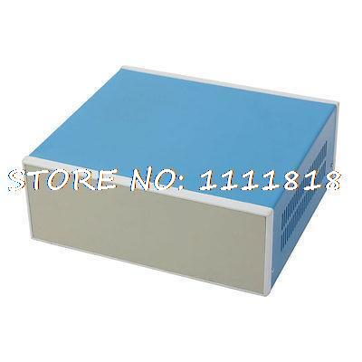 11 x 9.9 x 4  280 x 250 x 100mm Blue Metal Enclosure Project Case DIY Junction Box<br>