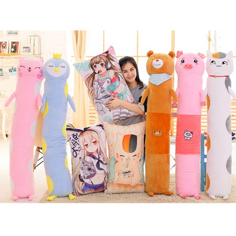 Fancytrader Cute Soft Anime Animals Plush Pillows Big Stuffed Cat Bear Penguin Pig Toys for Children and Adult<br><br>Aliexpress