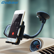 Universal Mobile phone holder Long Arm Car Windshield Phone Holder Mount Cradle Suction Cup Stand soporte movil for iPhone 6 6S(China)