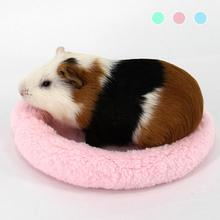 Small Pet hamster Bed house mat cages Guinea Pig Blanket Hamster Bed Small cat birds Mat Soft Pad Hamster rabbit Small animals 5(China)
