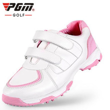 PGM Newly Adult Children Golf Shoes Super Breathable Boys Girls Outdoor Sneakers Hook Loop Sports Shoes Golf for Kids