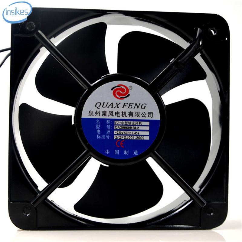 DHL Free QA20060HBL2 AC 220V 0.45A 65W 20060 20cm 200*200*60mm 2 Wires 50HZ FZY Small Axial Cooling Fan<br>