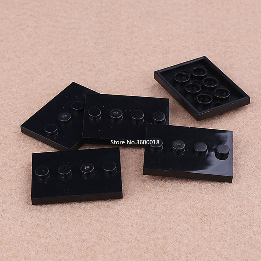 Black Mini Figure Display Base Stand Tile Modified 3 x 4 88646 5x LEGO