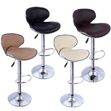 Modern Adjustable Barstool Bar Chair Swivel Elegant PU Leather Hydraulic Bar Stool Swivel Dinning Chair HW50135