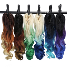 "Neverland 20"" 50cm Claw Clip in Ponytail Hair Extension Heat Resistant Synthetic Wavy Ombre Hair Three Tones Fake Ponytails(China)"