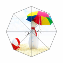Fashion Design Umbrella Custom Christmas Beach Folding Umbrella For Man And Women(China)