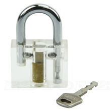 Nice 1 pc Pick Cutaway Inside View Padlock Lock For Locksmith Practice Training Skills #U225#