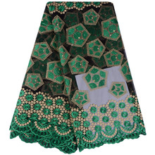 2017 Latest Green French Nigerian Laces Fabric High Quality Tulle African Laces Fabric Wedding African French Tulle Lace 860(China)